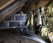 crawl space exposed wiring insulation